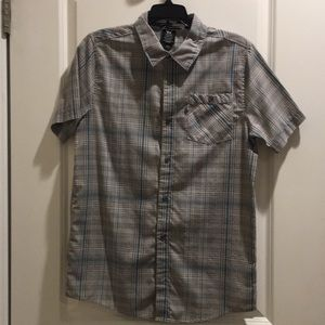 Grey and Blue Shaun White Button Up